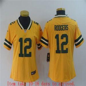 Women Packers #12 Aaron Rodgers Jersey